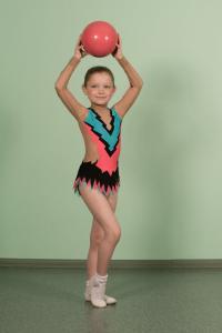 Купальник для выступлений по художественной гимнастике с юбочкой